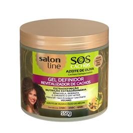 Gel Definidor Salon Line S.O.S Cachos 550 gr Azeite de Olivia