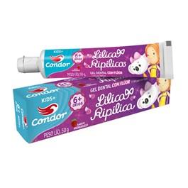 Gel Dental Condor Kids + Lilica Ripilica 50 gr Morango