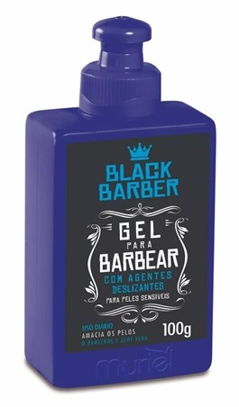 Gel Para Barbear Muriel Black Barber 100 gr