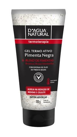 Gel Termo Ativo D'Agua Natural  200 gr Pimenta Negra