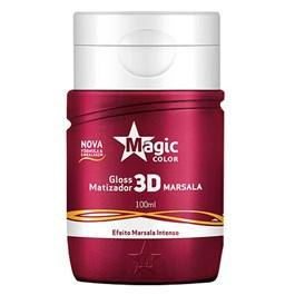 Gloss Matizador Magic Profissional 3D 100 ml Marsala