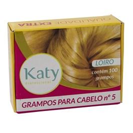 Grampo para Cabelo Katy N° 5 100 unidades Loiro