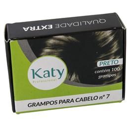 Grampo para Cabelo Katy N° 7 100 unidades Preto