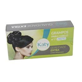 Grampo para Cabelo Katy N° 7 500 unidades Preto