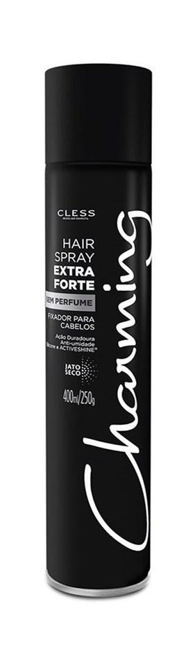 Hair Spray Cless Charming 400 ml Extra Forte Sem Perfume