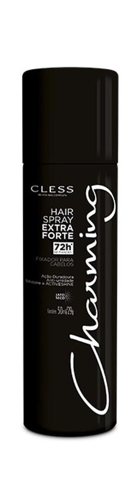 Hair Spray Cless Charming 50 ml Extra Forte Sem Perfume