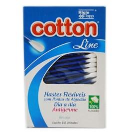 Hastes Flexíveis Cotton Line Dia a Dia 150 Unidades Antigerme