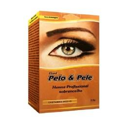 Henna Para Sobrancelha Pelo & Pele 2,5 gr Castanho Médio