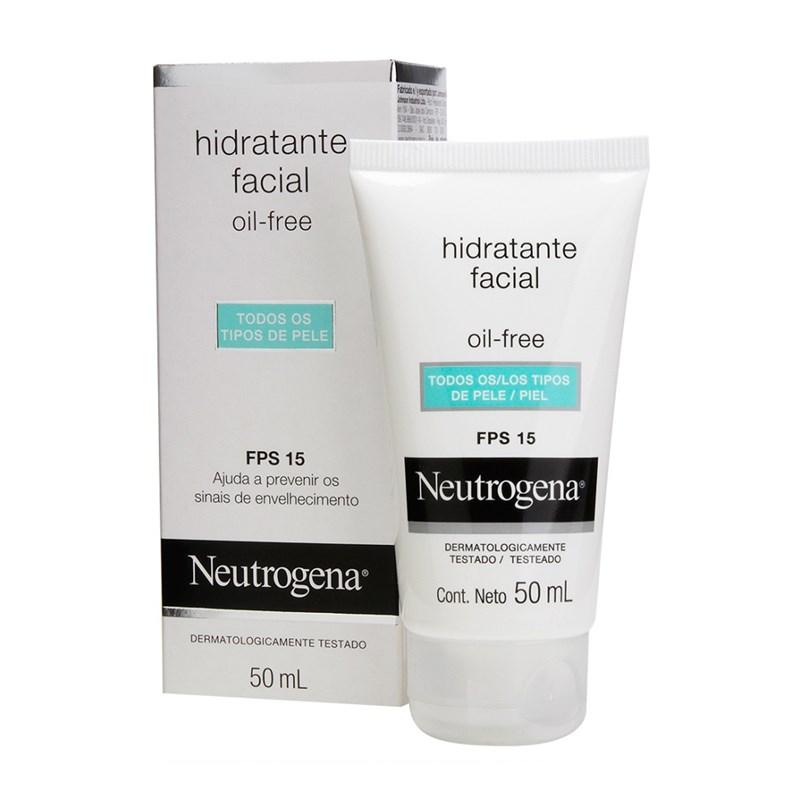 Hidratante Facial Neutrogena FPS 15 Oil Free 50 ml Todos os Tipos de Pele