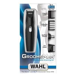 Kit Aparador de Pelos Wahl Groomsman Rechargeable Grooming