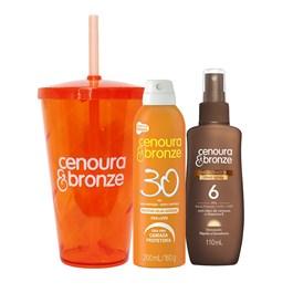 Kit Cenoura & Bronze Protetor FPS 30 200 ml + Bronzeador FPS 6 110 ml