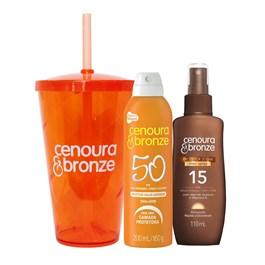 Kit Cenoura & Bronze Protetor FPS 50 200 ml + Bronzeador FPS 15 110 ml