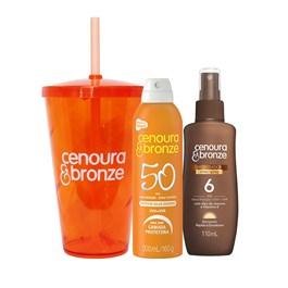 Kit Cenoura & Bronze Protetor FPS 50 200 ml + Bronzeador FPS 6 110 ml