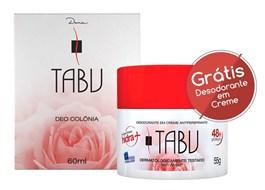 Kit Colônia 60 ml + Desodorante em Creme 55 gr Tabu Tradicional