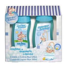 Kit Colonia + Sabonete Liquido Charminho & Carinho Blue