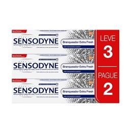Kit Creme Dental Sensodyne 50 gr Cada Branqueador Extra Fresh Branqueador Extra Fresh