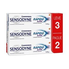 Kit Creme Dental Sensodyne 50 gr Cada Rápido Alívio