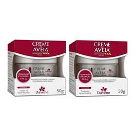 Kit Creme Hidratante Facial Davene Aveia 50 gr Clássico
