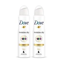 Kit Desodorante Aerosol Dove 89 gr Invisible Dry