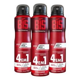 Kit Desodorante Aerosol Herbíssimo 150 ml Volcano Leve 03 Pague 02