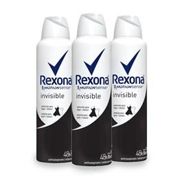 Kit Desodorante Aerosol Rexona Feminino 90 gr Invisible Leve 03 Pague Menos