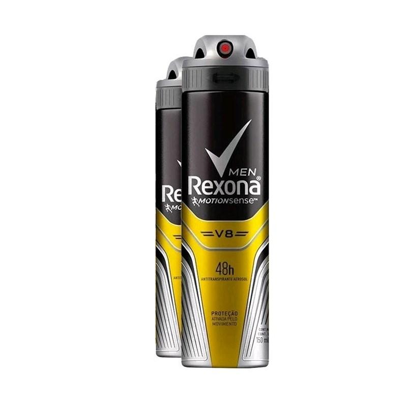 c80605554 Kit Desodorante Aerosol Rexona Men 90 gr V8 - LojasLivia