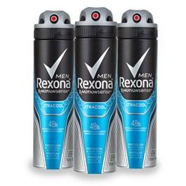 Kit Desodorante Aerosol Rexona Men 90 gr Xtracool Leve 03 Pague Menos