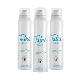 Kit Desodorante Aerosol Tabu 150 ml Delicada Leve 03 Pague 02