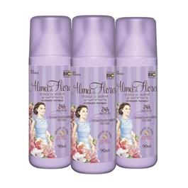 Kit Desodorante Sray Alma de Flores 90 ml Baunilha Leve 03 Pague 02