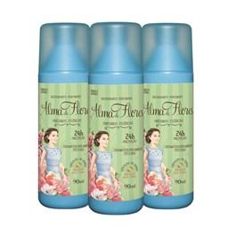 Kit Desodorante Sray Alma de Flores 90 ml Finissimas Essencias Leve 03 Pague 02