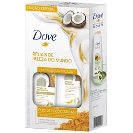Kit Dove Shampoo 400 ml + Condicionador 200 ml Óleo de Coco e Cúrcuma
