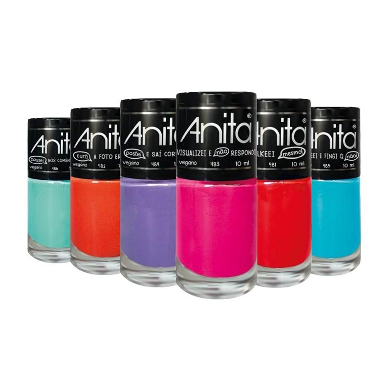 Kit Esmalte Anita Coisas Que Eu Já Fiz 06 cores