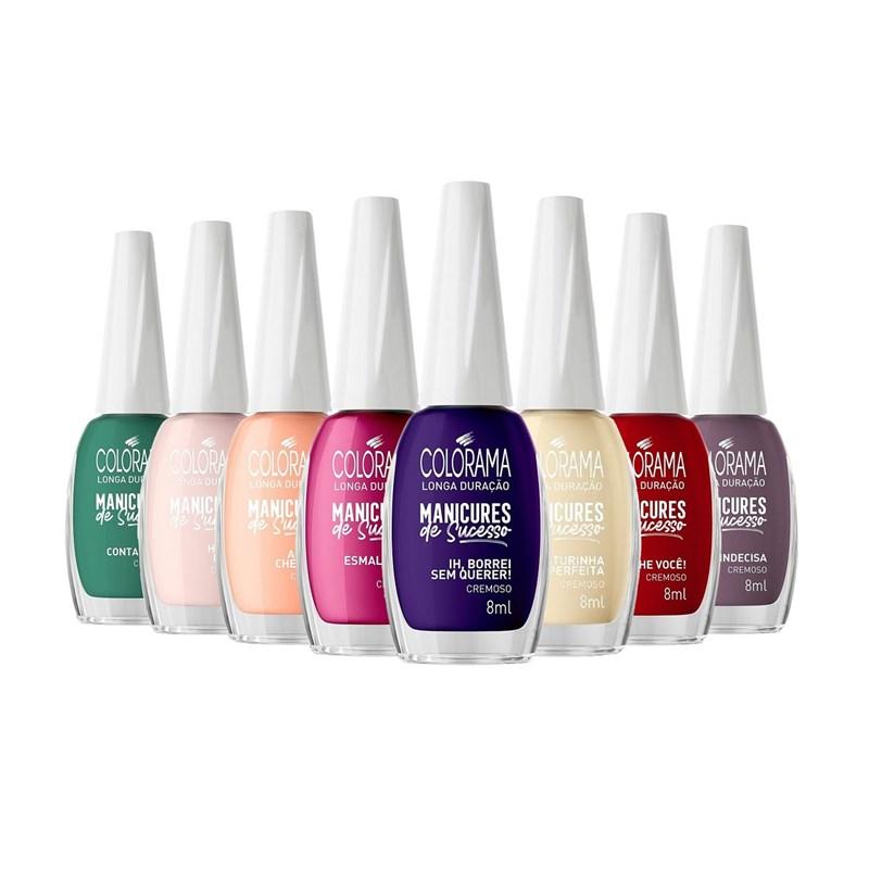Kit Esmalte Colorama Manicures de Sucesso 08 cores