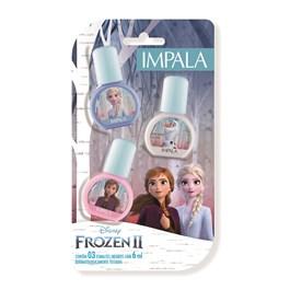 Kit Esmalte Impala Frozen 2 Infantil 3 unidades