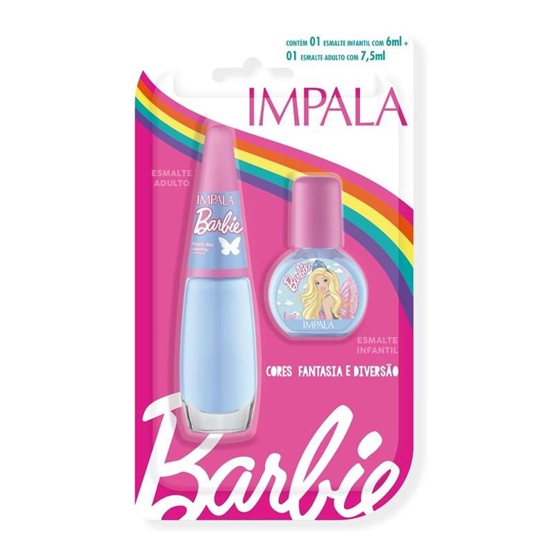 Kit Esmalte Infantil + Adulto Impala Barbie Fada dos Sonhos