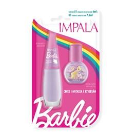 Kit Esmalte Infantil + Adulto Impala Barbie Magia de Unicórnio
