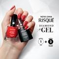 Kit Esmalte Risqué Diamond Gel 9,5 ml 20 cores + Top Coat