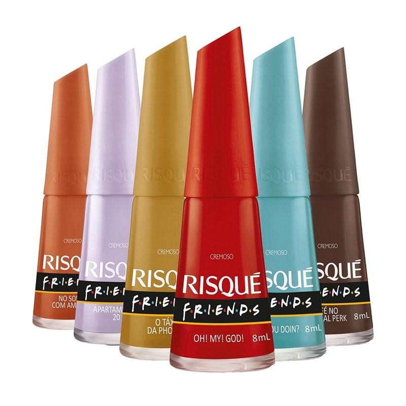Kit Esmalte Risqué Friends 06 Cores