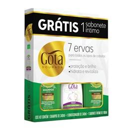 Kit Gota Dourada 7 Ervas Grátis Sabonete Íntimo