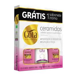 Kit Gota Dourada Ceramidas Grátis Sabonete Íntimo
