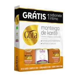Kit Gota Dourada Manteiga de Karité Grátis Sabonete Íntimo