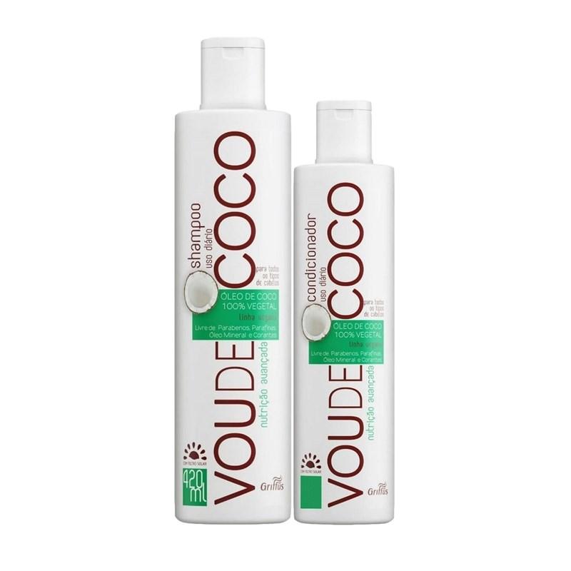 Kit Griffus Shampoo 420 ml + Condicionador 220 ml Vou de Coco