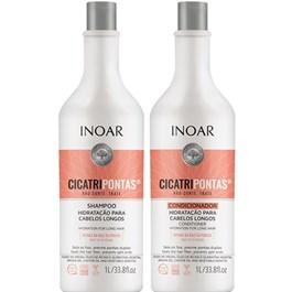 Kit Inoar Cicatri Pontas Shampoo e Condicionador 1L