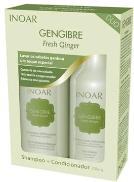 Kit Inoar Shampoo + Condicionador 250 ml cada Gengibre