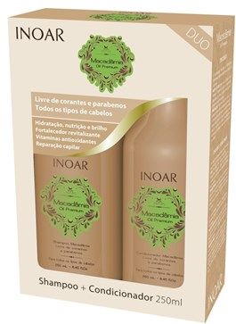 Kit Inoar Shampoo + Condicionador 250 ml cada Macadâmia