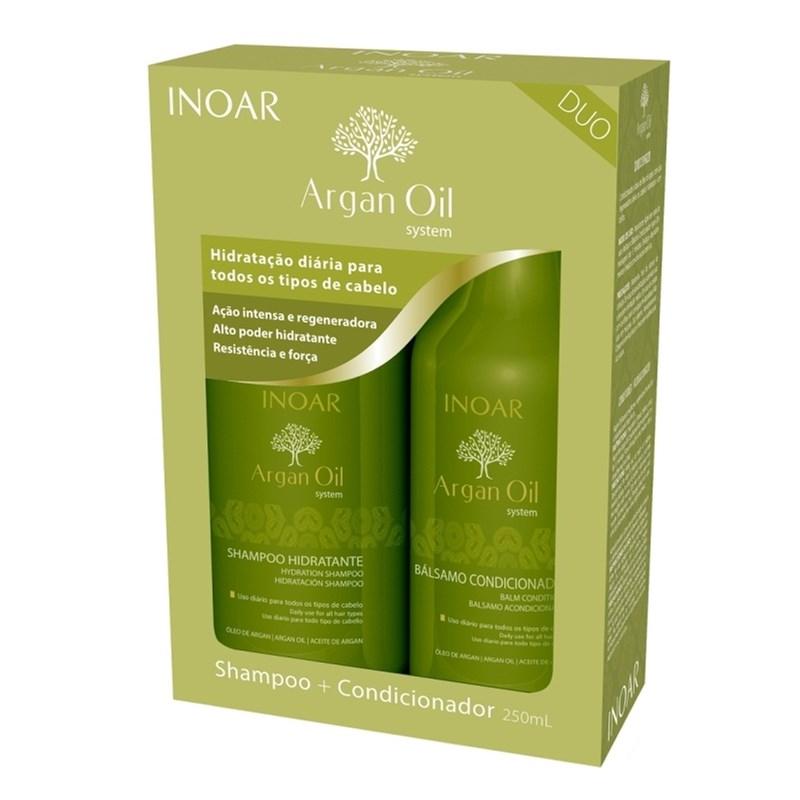 Kit Inoar Shampoo + Condicionador 250 ml cada Óleo de Argan
