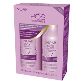 Kit Inoar Shampoo + Condicionador 250 ml cada Pós Progress