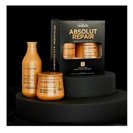 Kit L'oreal Professionnel Série Expert Shampoo + Máscara Gold Quinoa e Proteína
