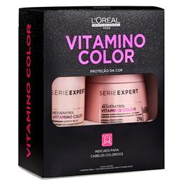 Kit L'oreal Professionnel Série Expert Shampoo + Máscara Vitamino Color Resveratrol