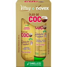 Kit Novex Vitay Óleo de Coco Shampoo e Condicionador 300ml